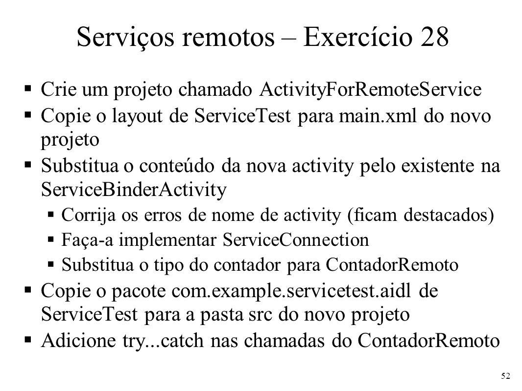Serviços remotos – Exercício 28