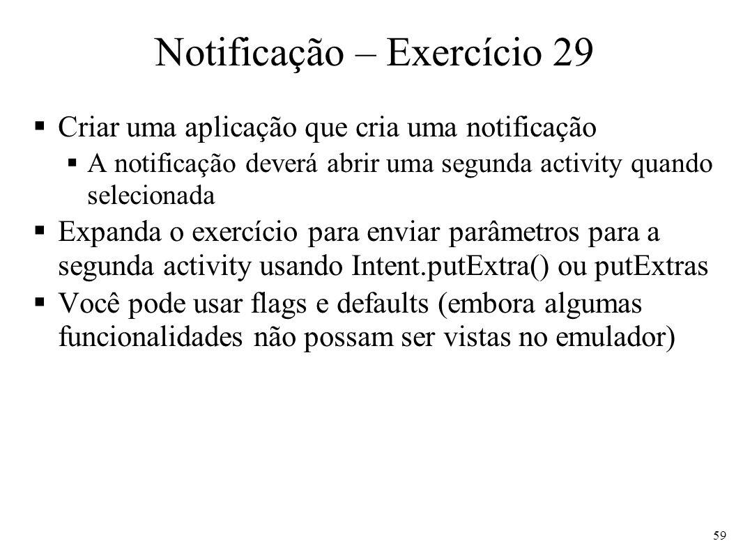 Notificação – Exercício 29