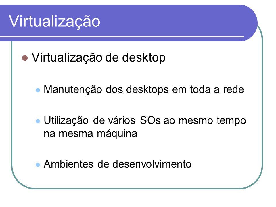 Virtualização Virtualização de desktop