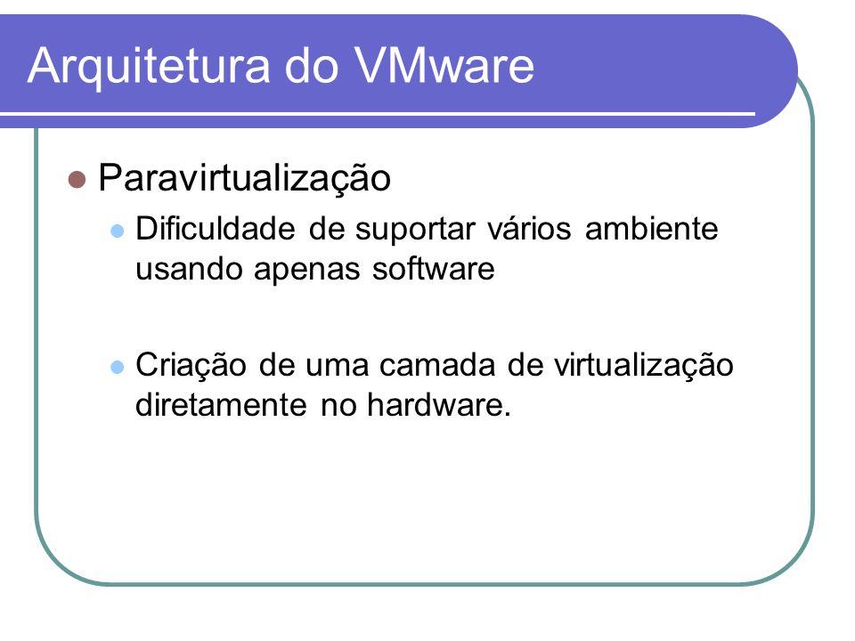 Arquitetura do VMware Paravirtualização