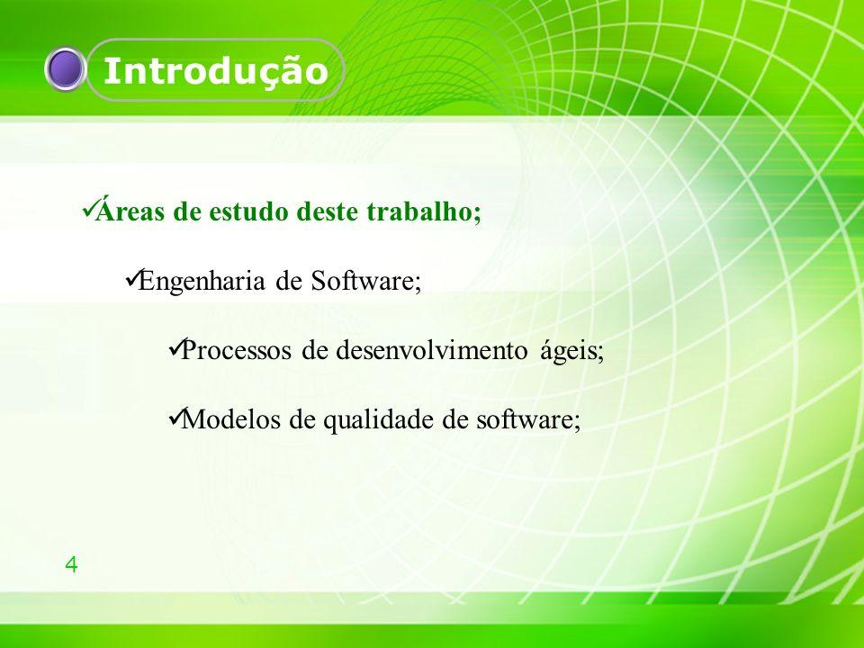 Introdução Áreas de estudo deste trabalho; Engenharia de Software;