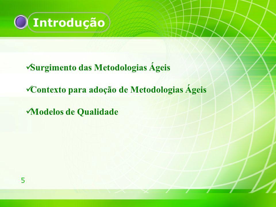 Introdução Surgimento das Metodologias Ágeis