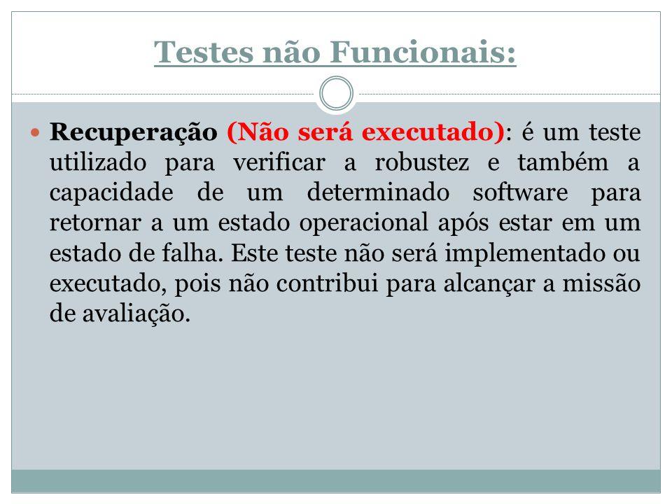 Testes não Funcionais: