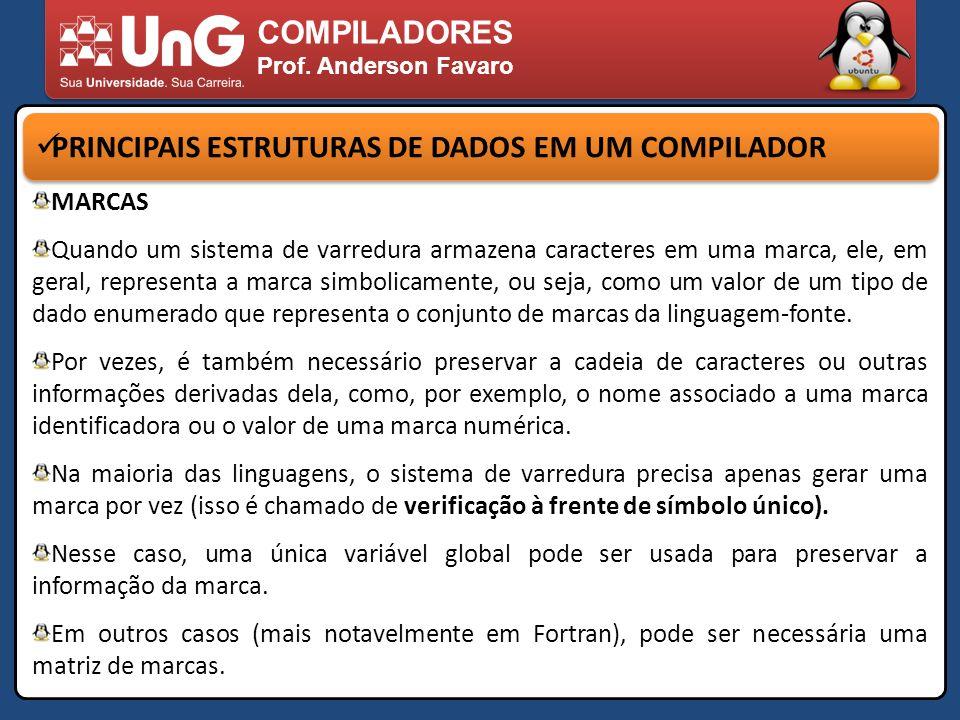 PRINCIPAIS ESTRUTURAS DE DADOS EM UM COMPILADOR