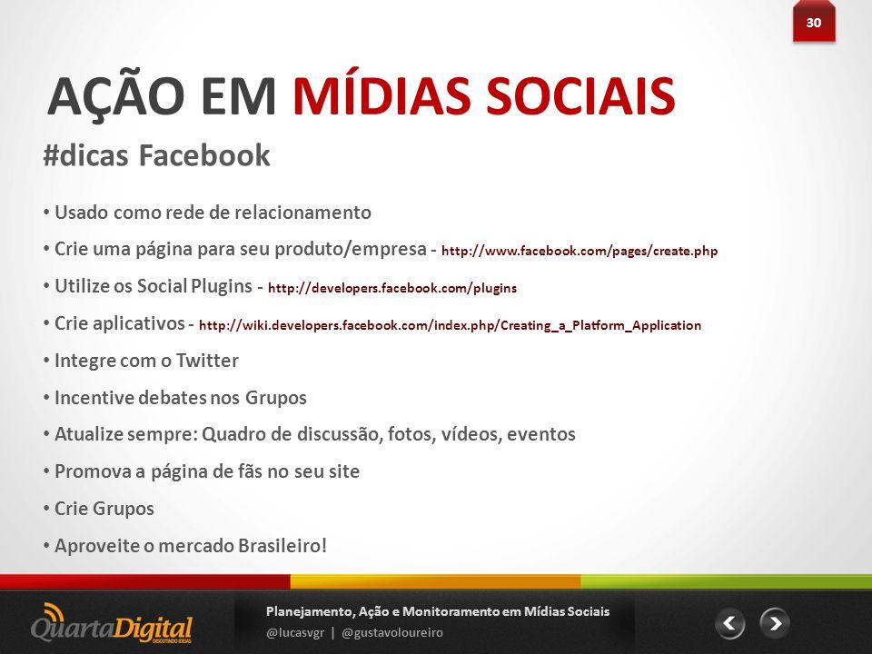 AÇÃO EM MÍDIAS SOCIAIS #dicas Facebook
