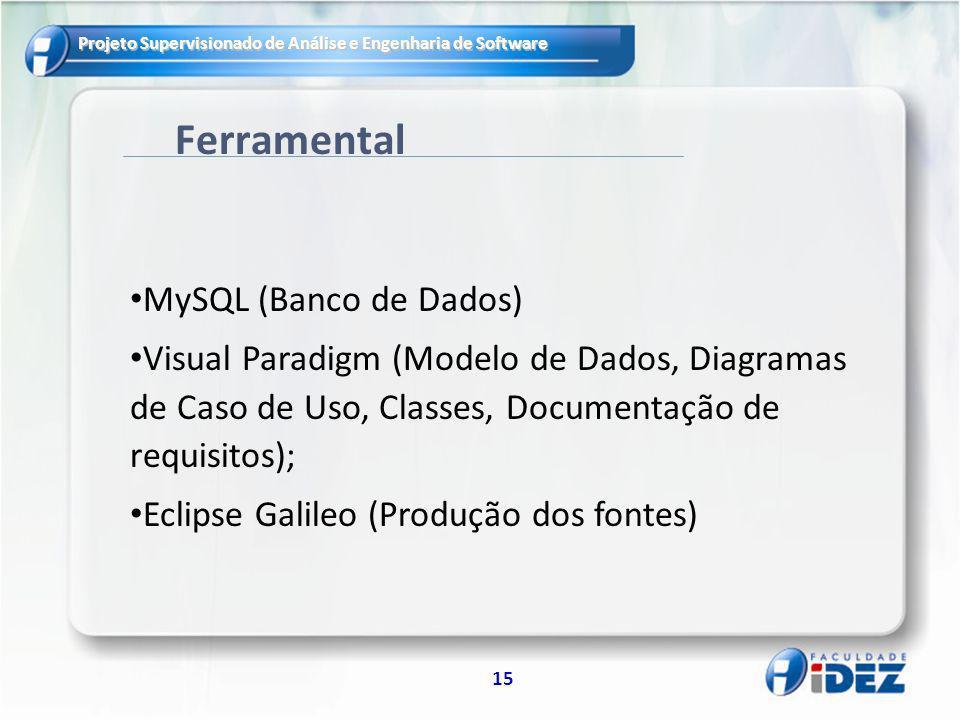 Ferramental MySQL (Banco de Dados)