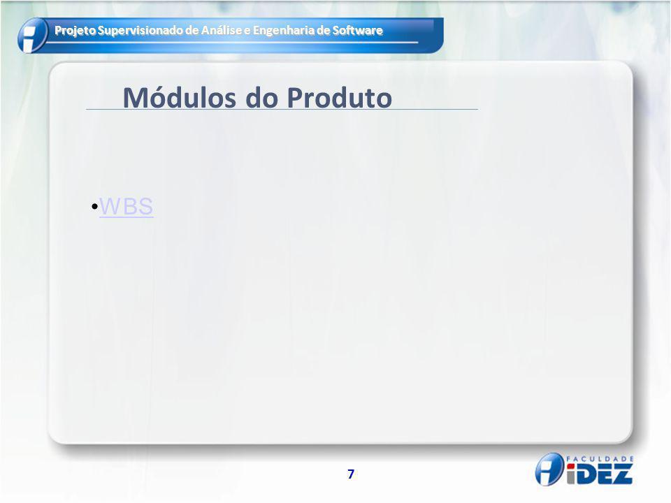 Módulos do Produto WBS