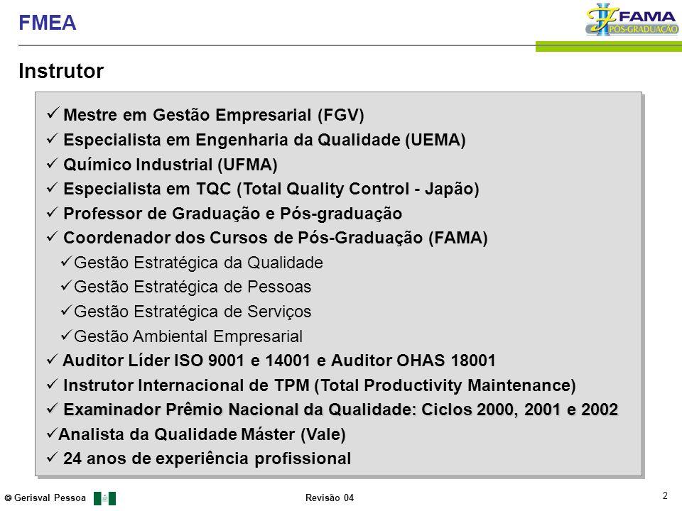Instrutor Mestre em Gestão Empresarial (FGV)