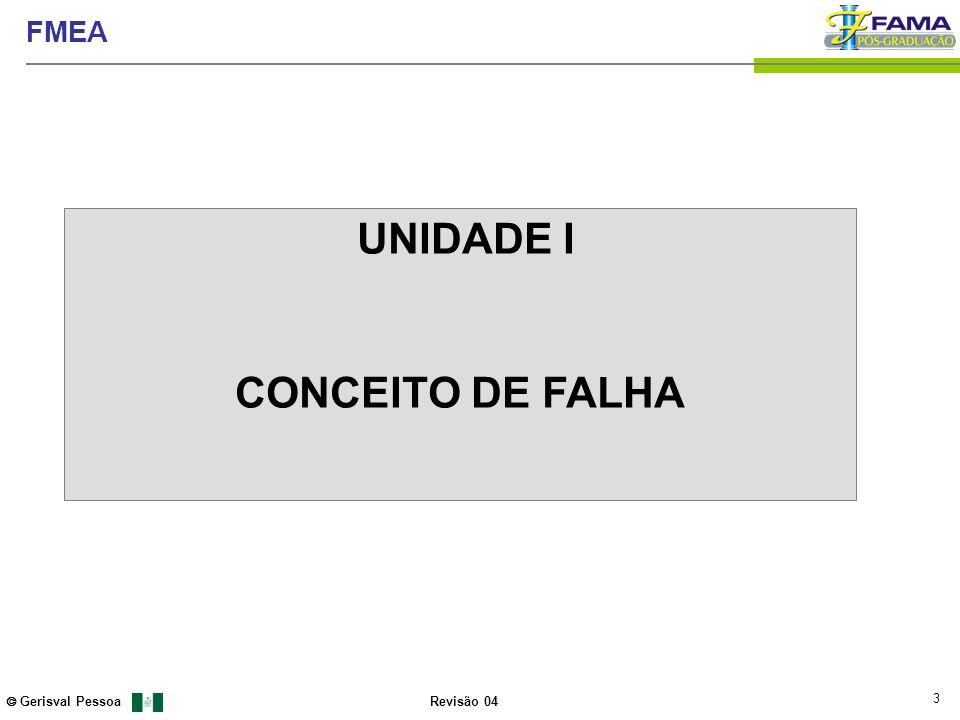 UNIDADE I CONCEITO DE FALHA