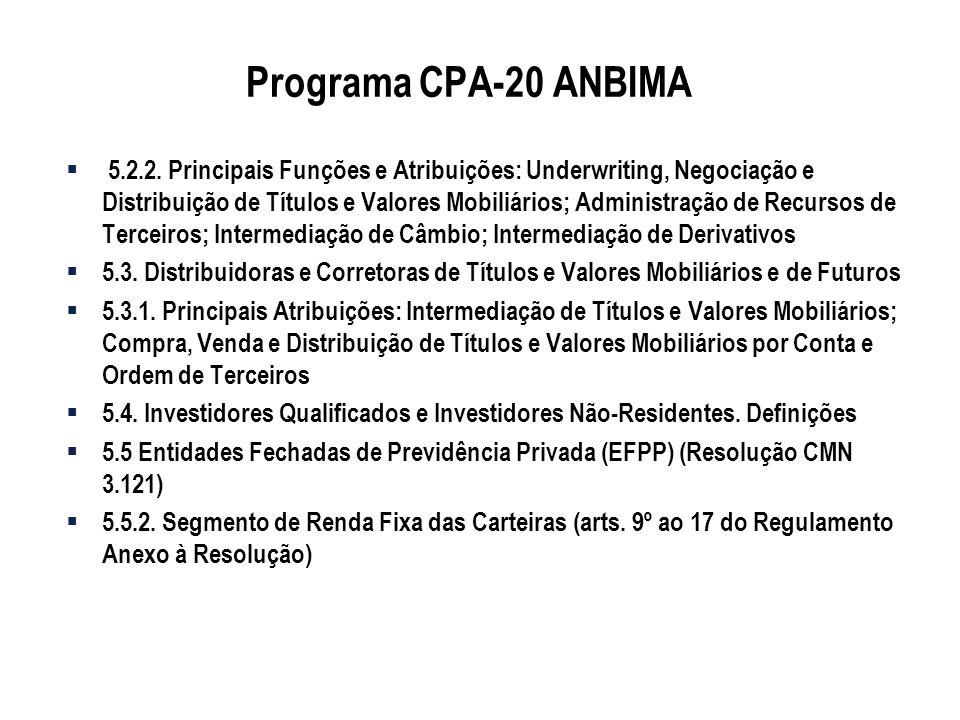 Programa CPA-20 ANBIMA