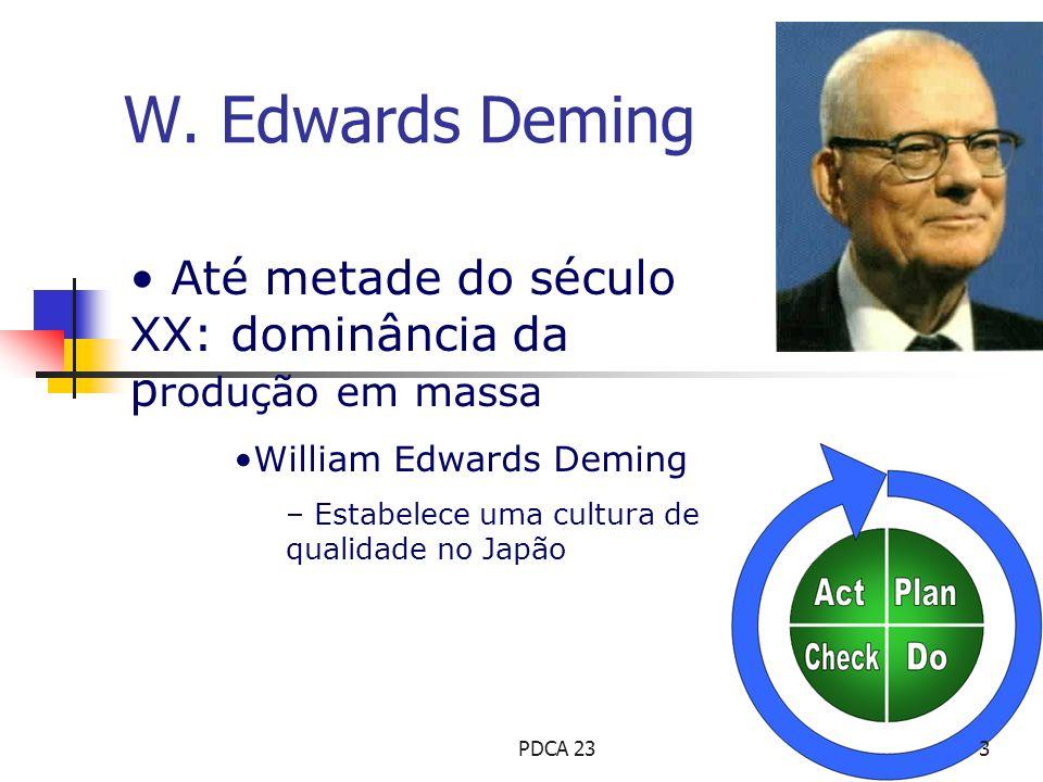 W. Edwards Deming Até metade do século XX: dominância da produção em massa. William Edwards Deming.