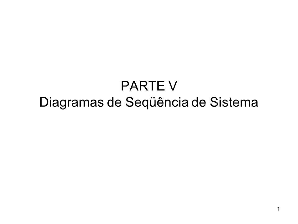 PARTE V Diagramas de Seqüência de Sistema