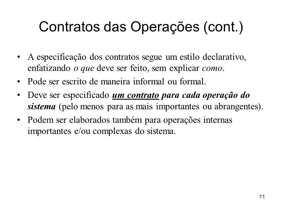 Contratos das Operações (cont.)