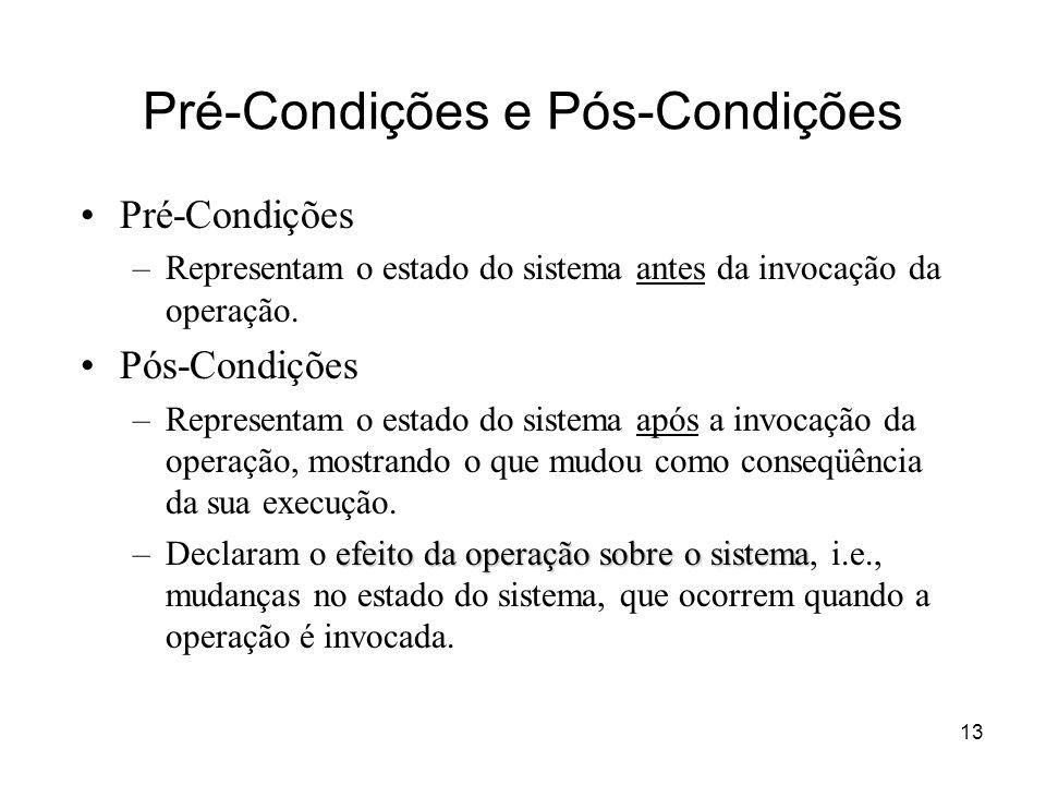 Pré-Condições e Pós-Condições