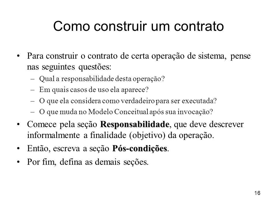 Como construir um contrato