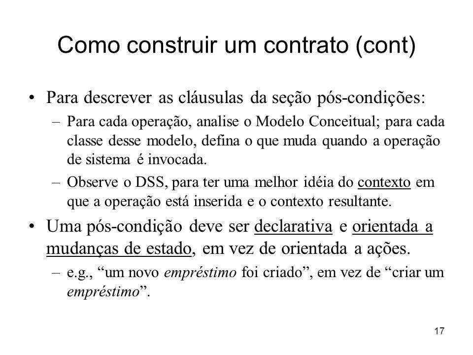 Como construir um contrato (cont)