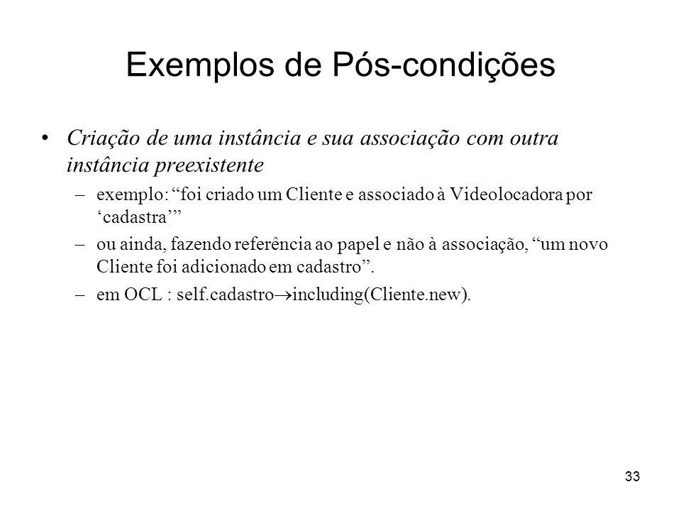 Exemplos de Pós-condições