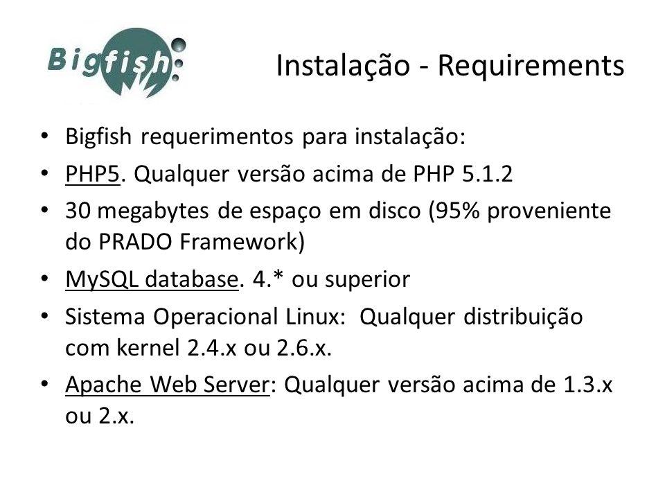 Instalação - Requirements