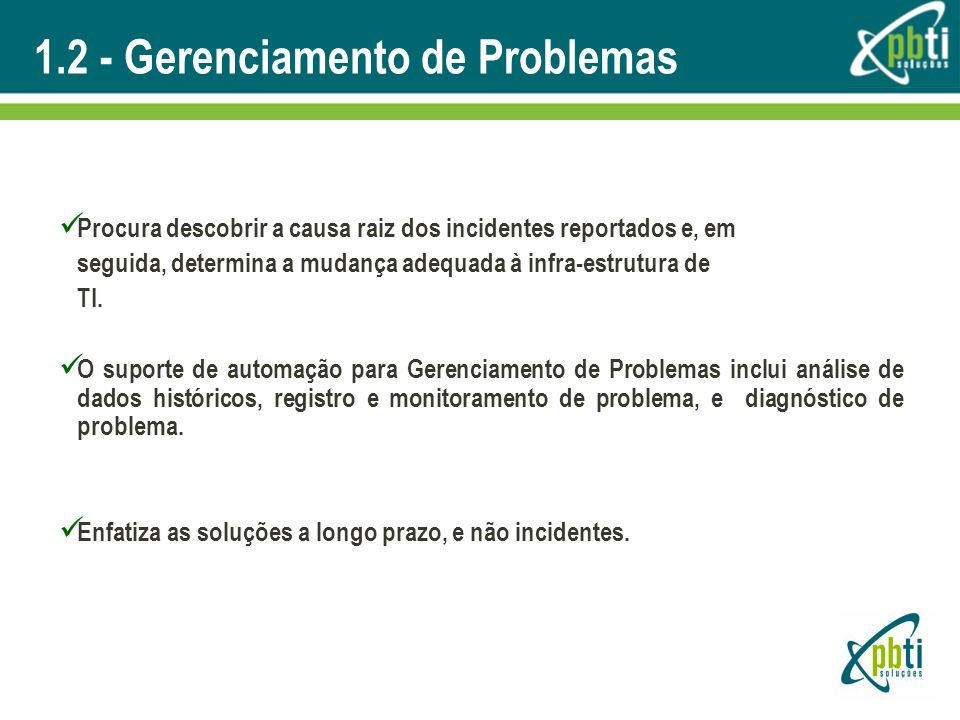 1.2 - Gerenciamento de Problemas
