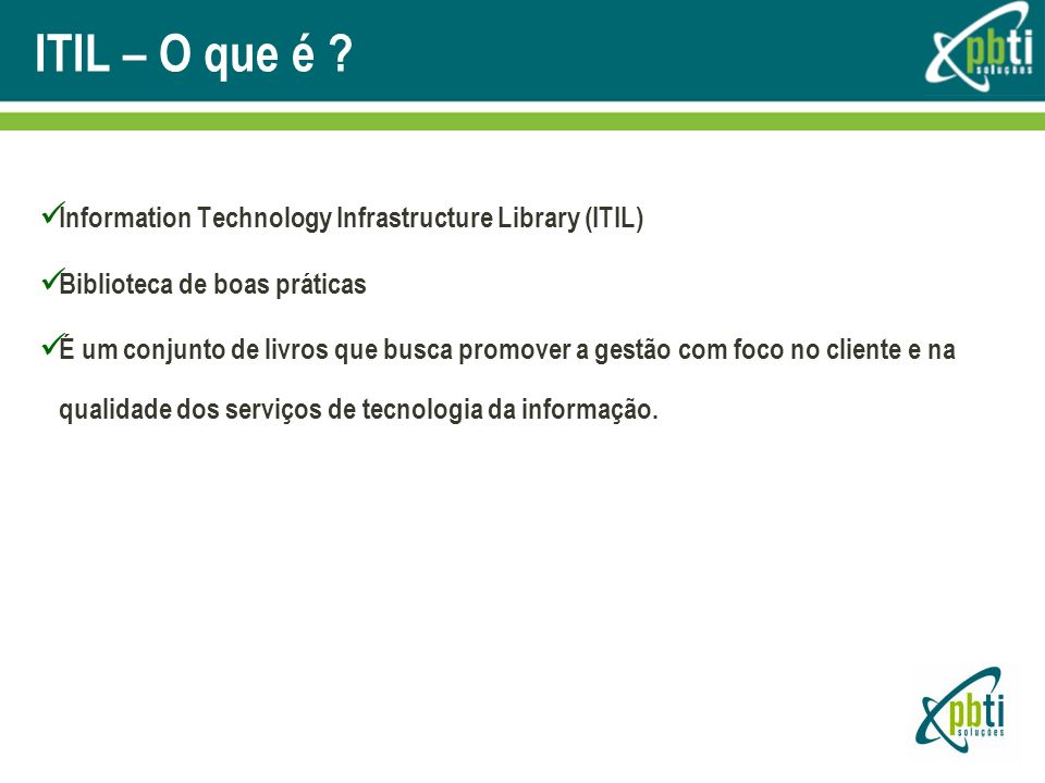 ITIL – O que é Information Technology Infrastructure Library (ITIL)