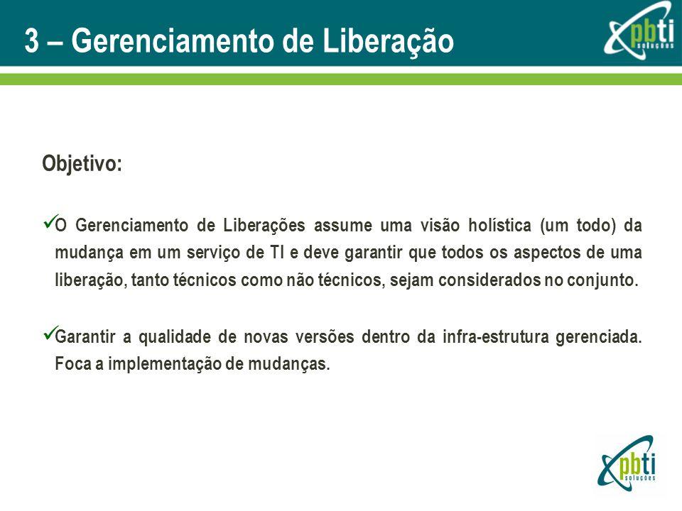 3 – Gerenciamento de Liberação