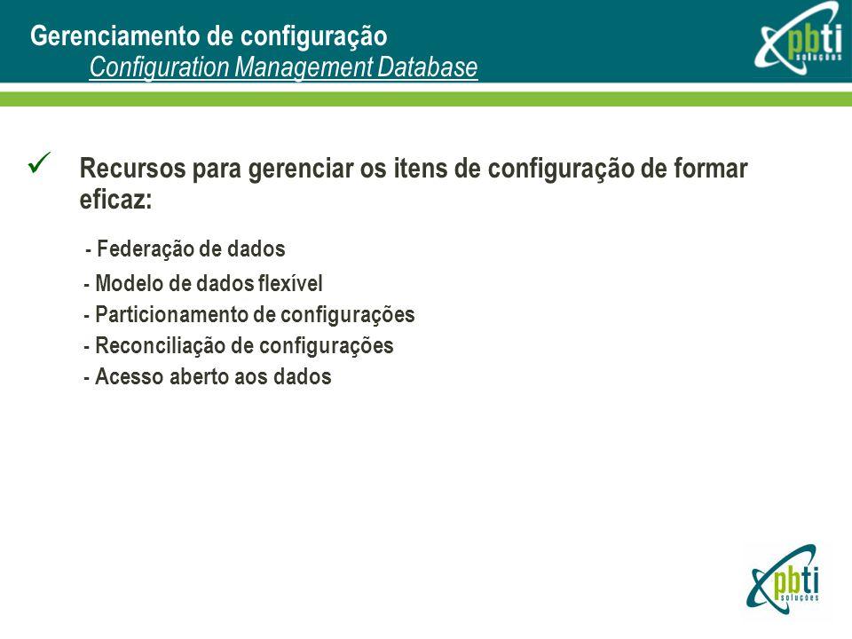 Gerenciamento de configuração Configuration Management Database