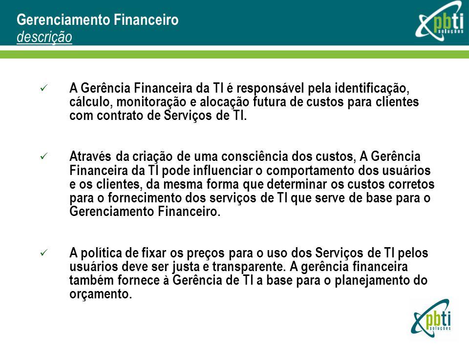 Gerenciamento Financeiro descrição