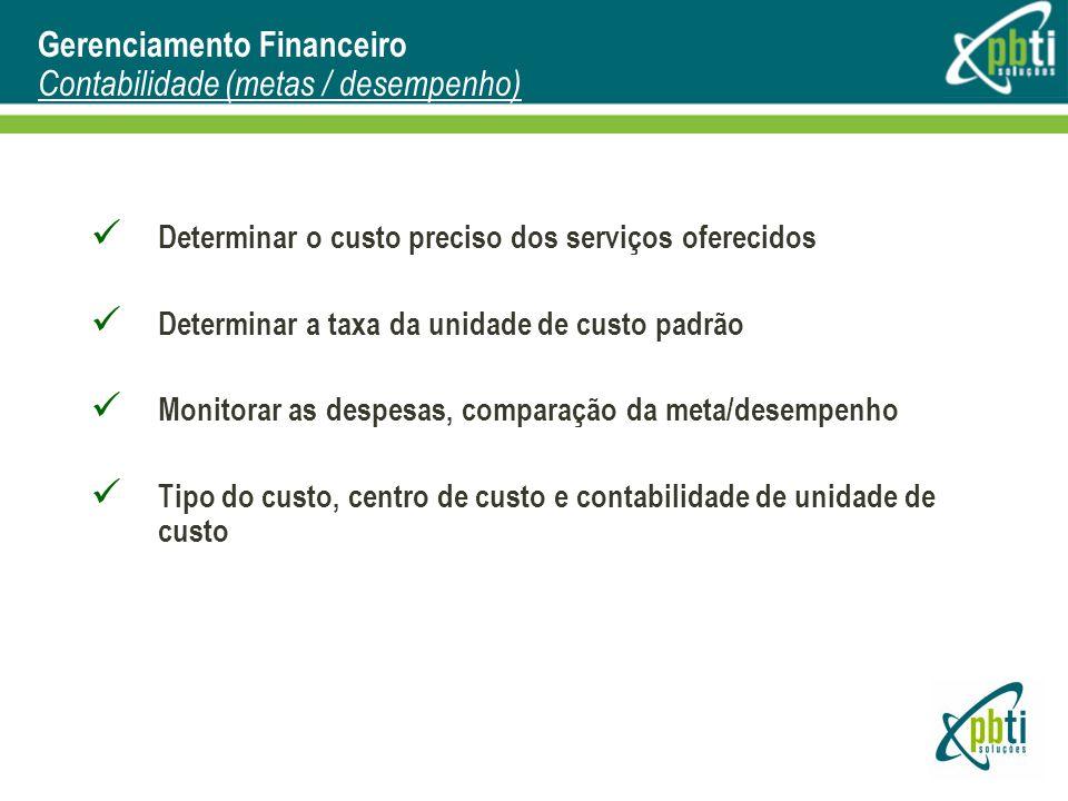 Gerenciamento Financeiro Contabilidade (metas / desempenho)
