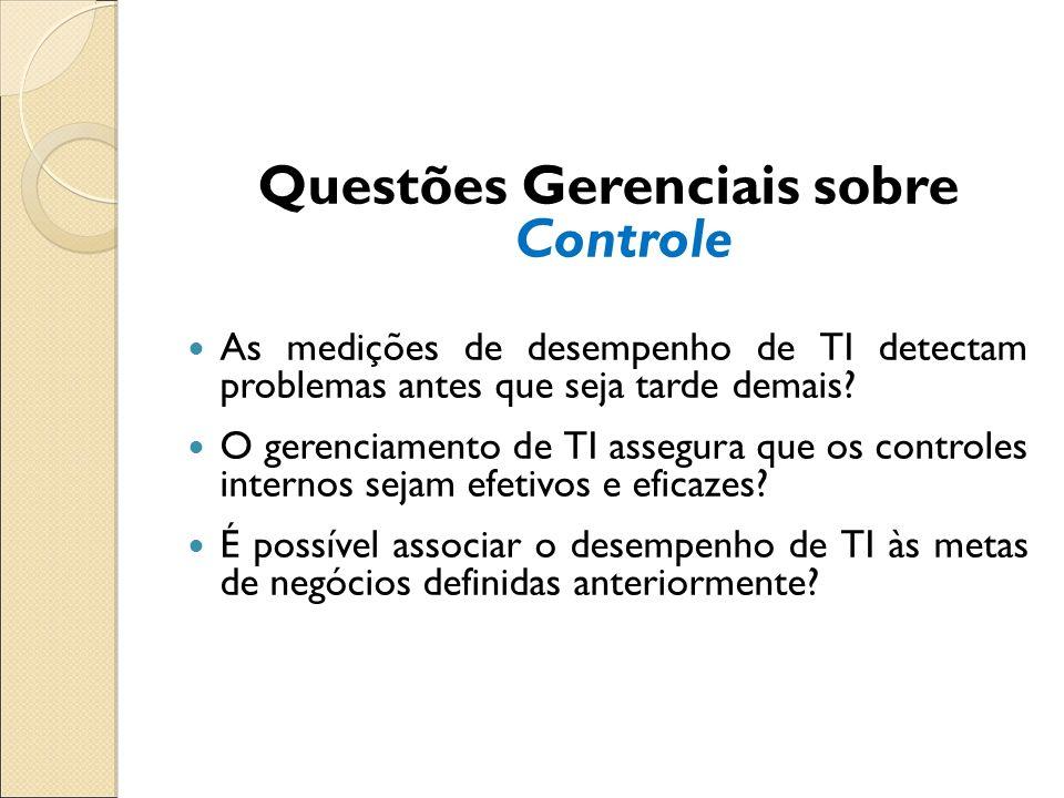 Questões Gerenciais sobre Controle