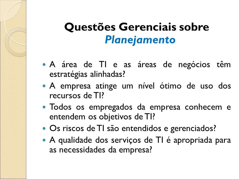 Questões Gerenciais sobre Planejamento