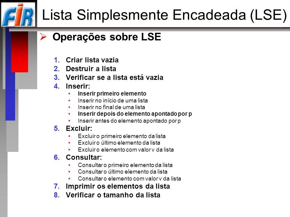 Lista Simplesmente Encadeada (LSE)