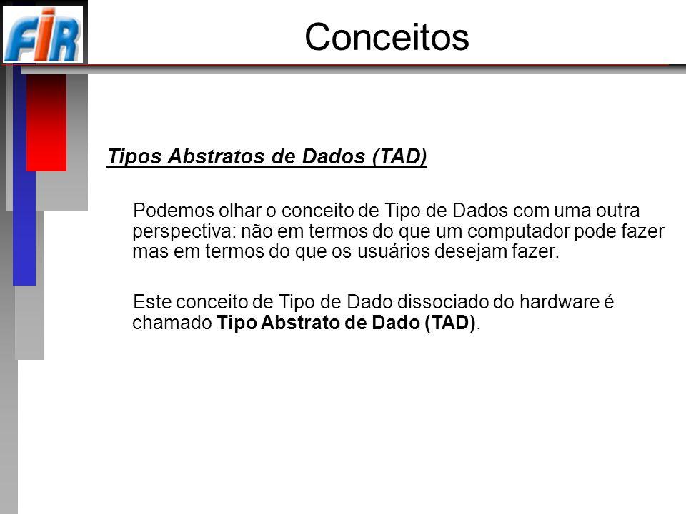Conceitos Tipos Abstratos de Dados (TAD)