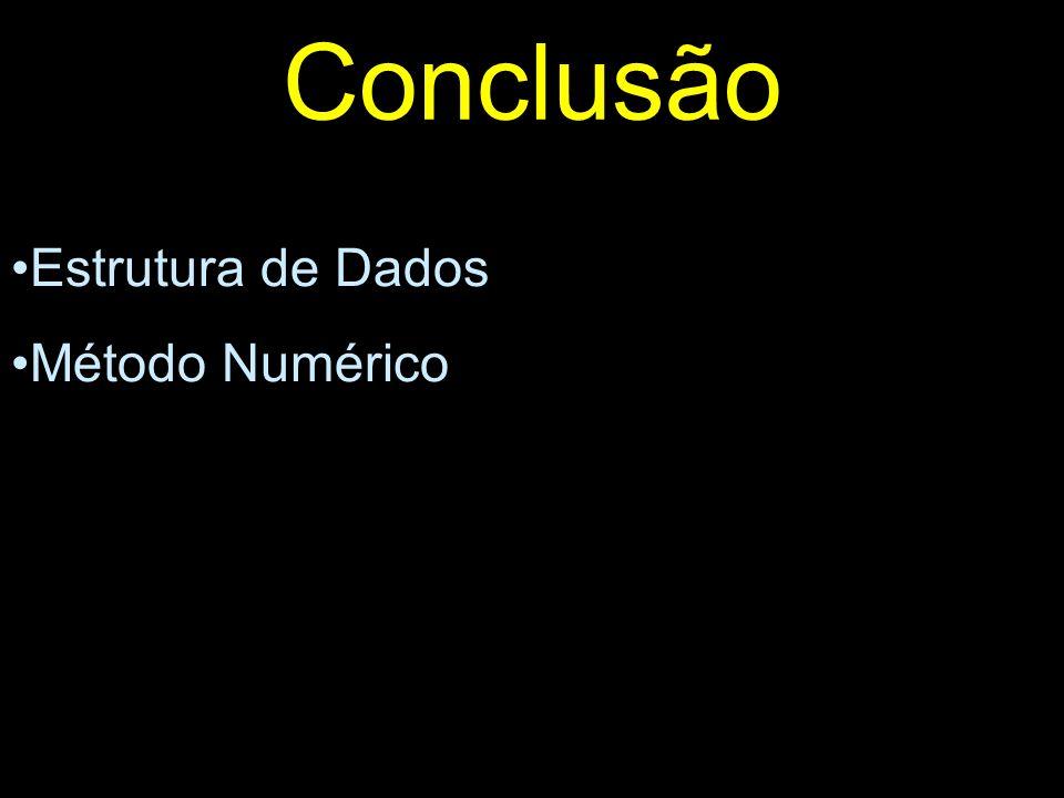 Conclusão Estrutura de Dados Método Numérico