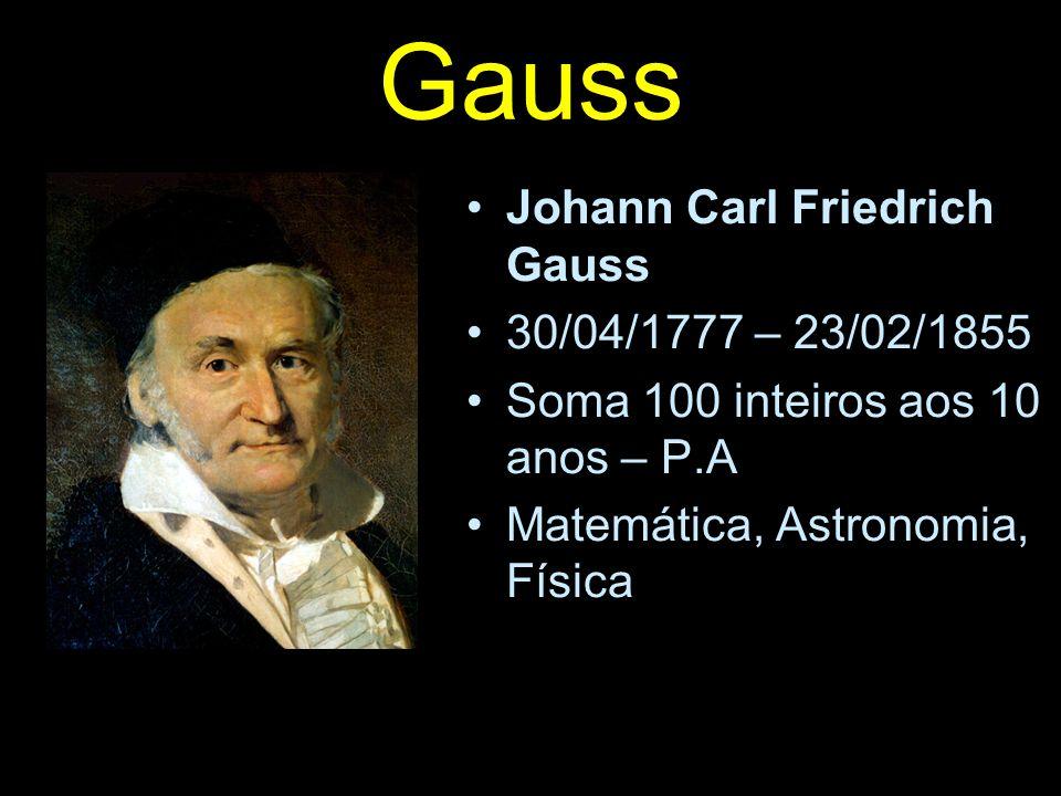 Gauss Johann Carl Friedrich Gauss 30/04/1777 – 23/02/1855