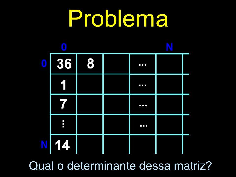 Problema Qual o determinante dessa matriz