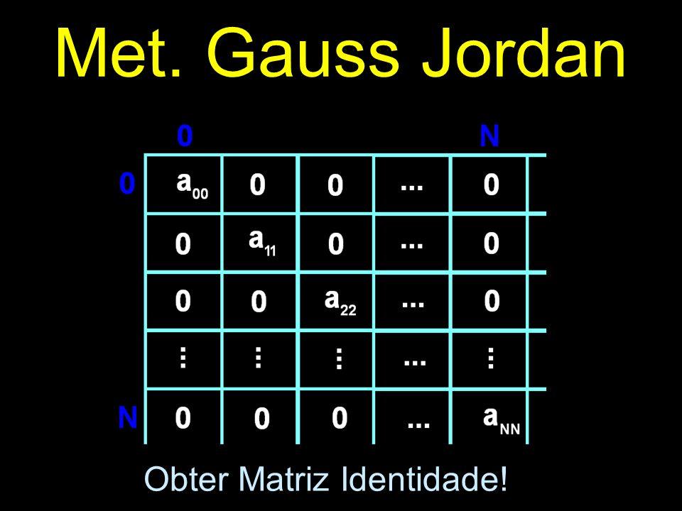 Met. Gauss Jordan Obter Matriz Identidade!