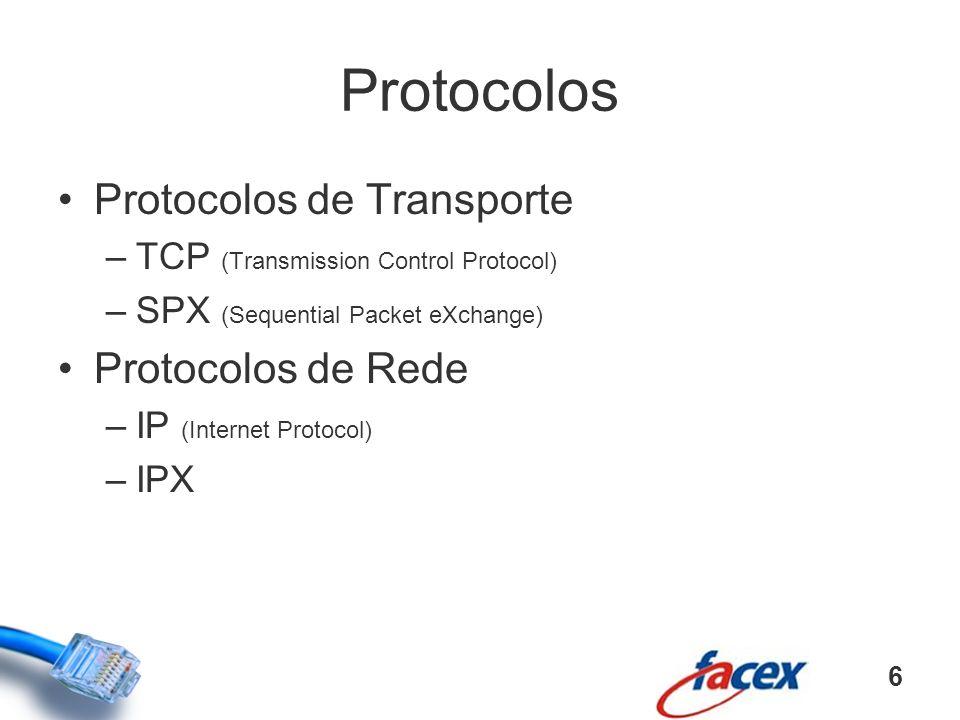 Protocolos Protocolos de Transporte Protocolos de Rede