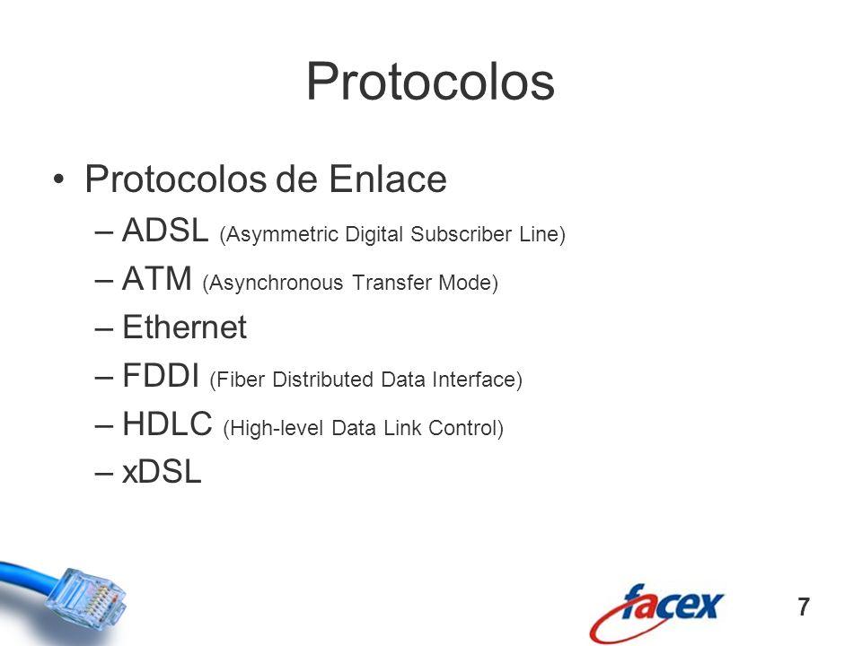Protocolos Protocolos de Enlace