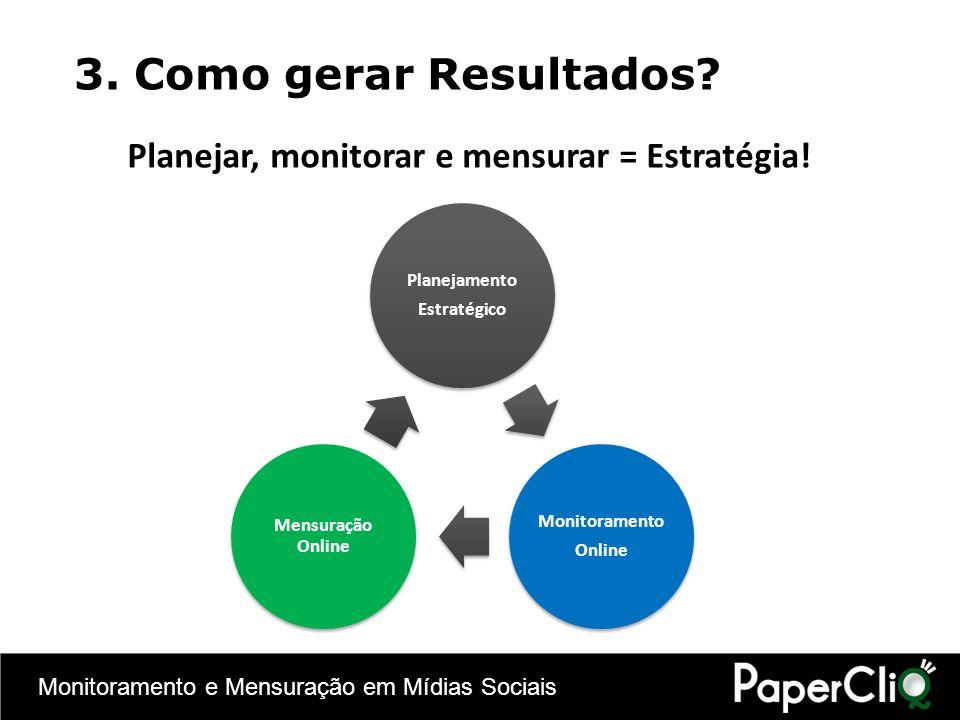 Planejar, monitorar e mensurar = Estratégia!