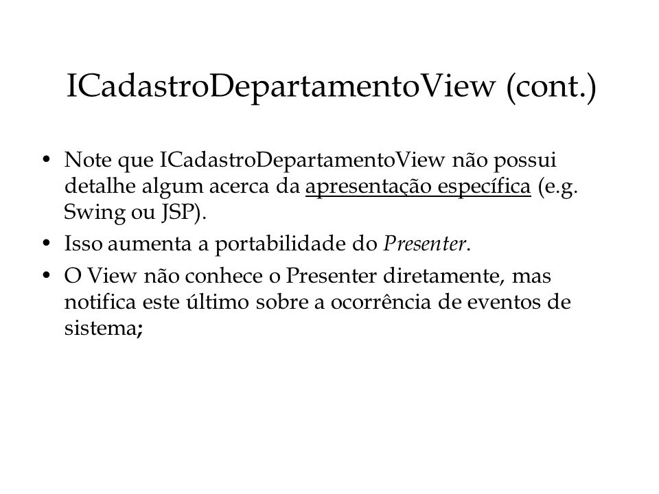 ICadastroDepartamentoView (cont.)
