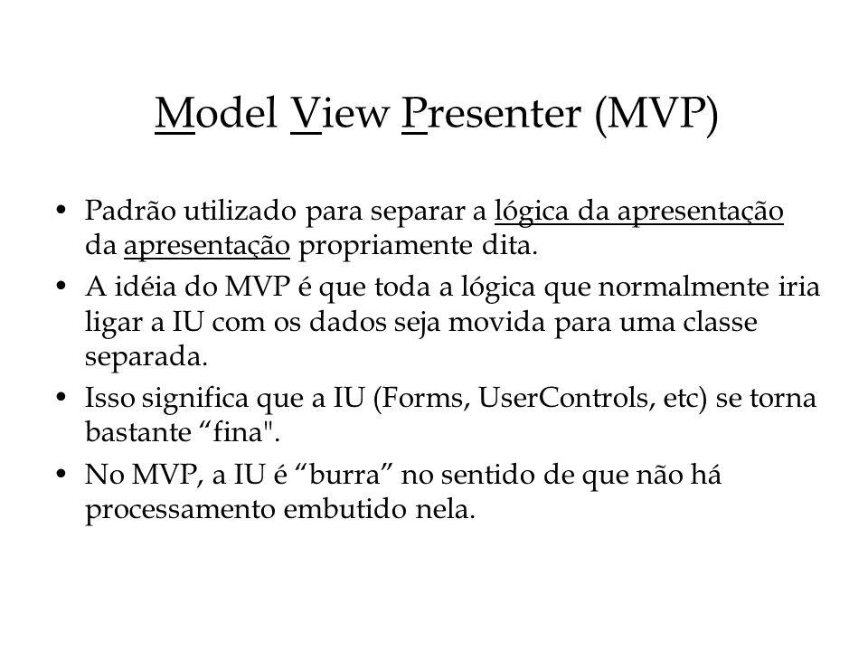 Model View Presenter (MVP)