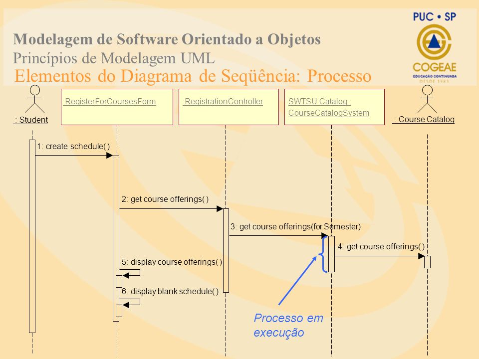 Elementos do Diagrama de Seqüência: Processo