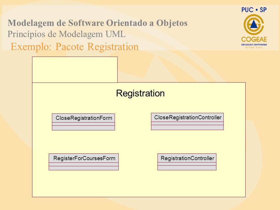Exemplo: Pacote Registration