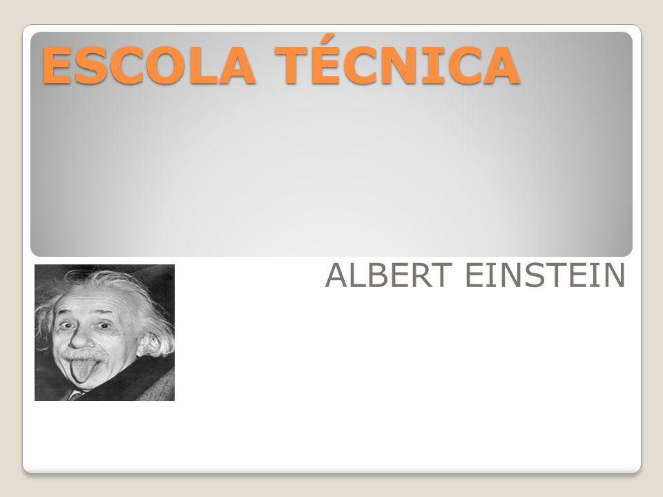 ESCOLA TÉCNICA ALBERT EINSTEIN