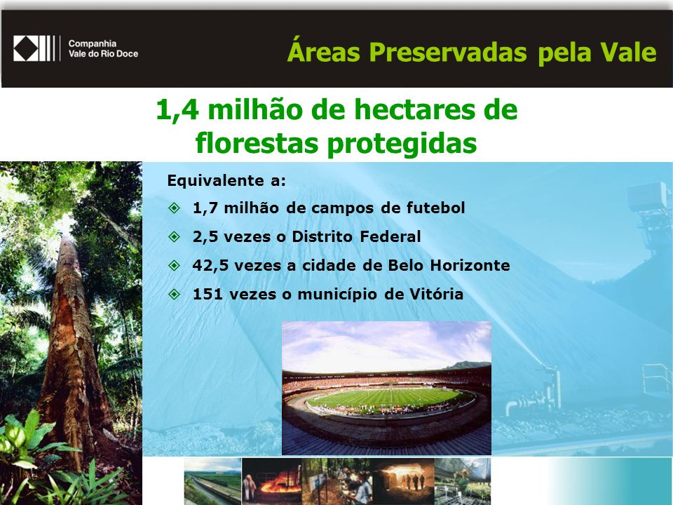 Áreas Preservadas pela Vale