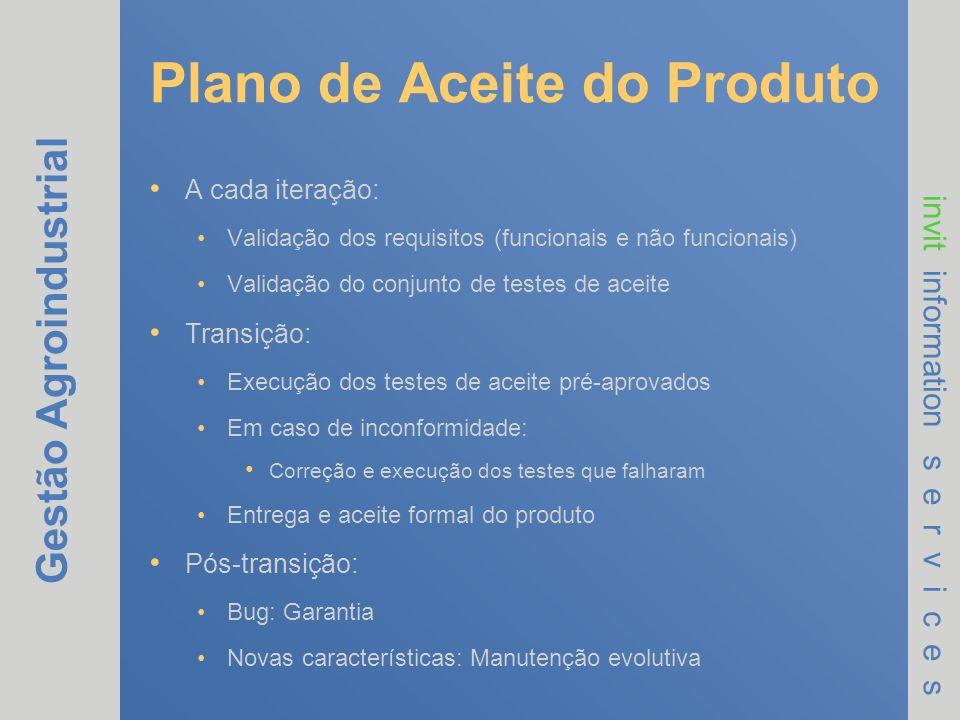 Plano de Aceite do Produto