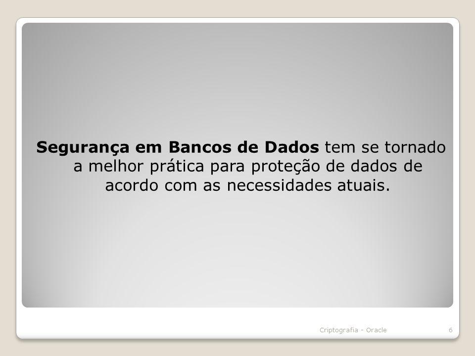 Segurança em Bancos de Dados tem se tornado a melhor prática para proteção de dados de acordo com as necessidades atuais.