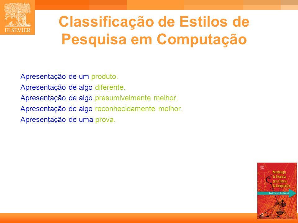 Classificação de Estilos de Pesquisa em Computação