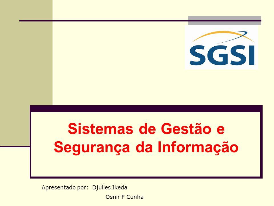 Sistemas de Gestão e Segurança da Informação