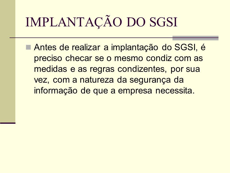 IMPLANTAÇÃO DO SGSI